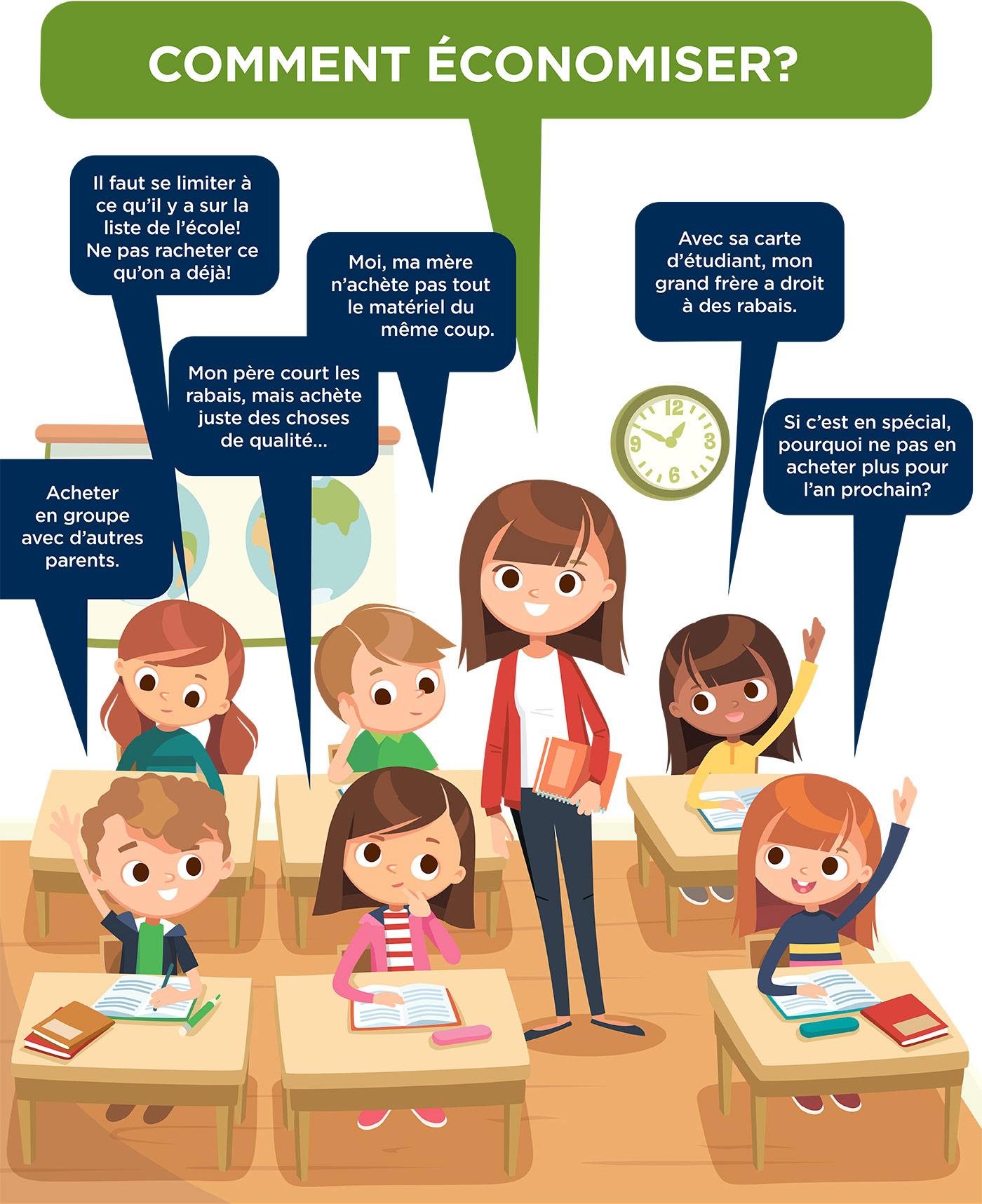 infographie rentrée scolaire